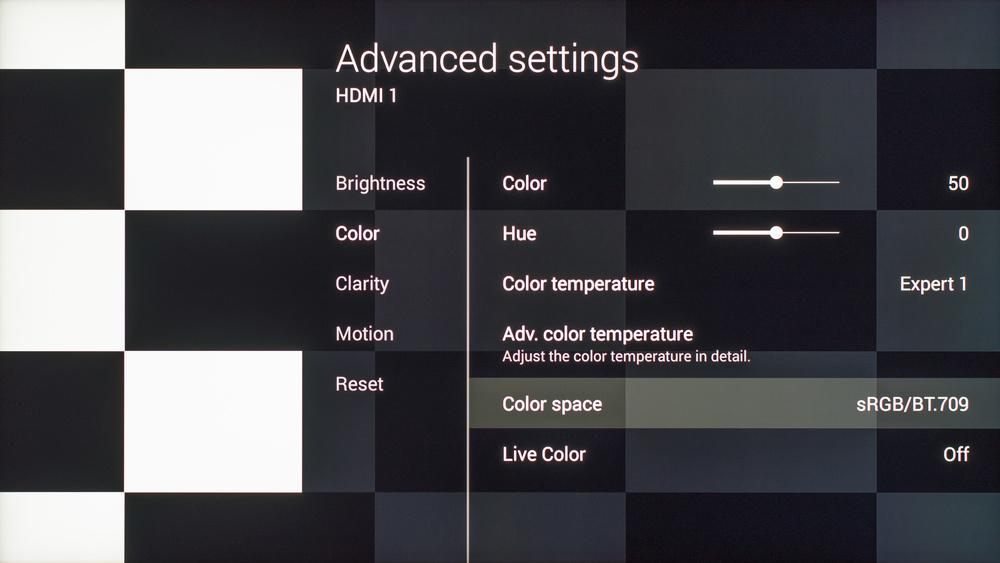 Sony X930C Calibration Settings 5