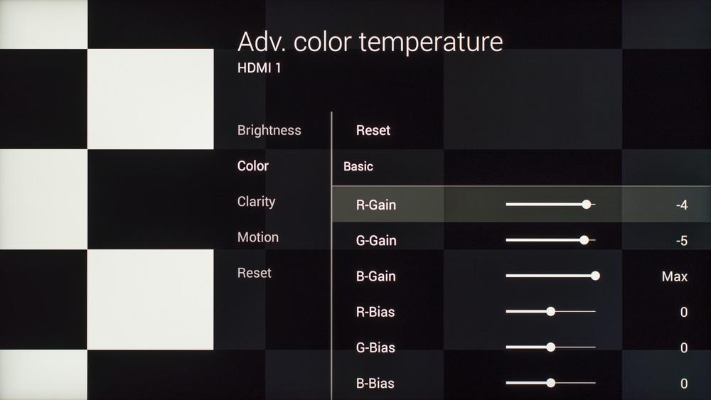 Sony X930C Calibration Settings 6