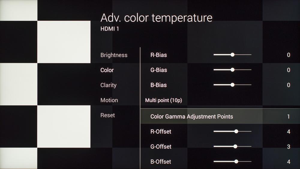 Sony X930C Calibration Settings 7