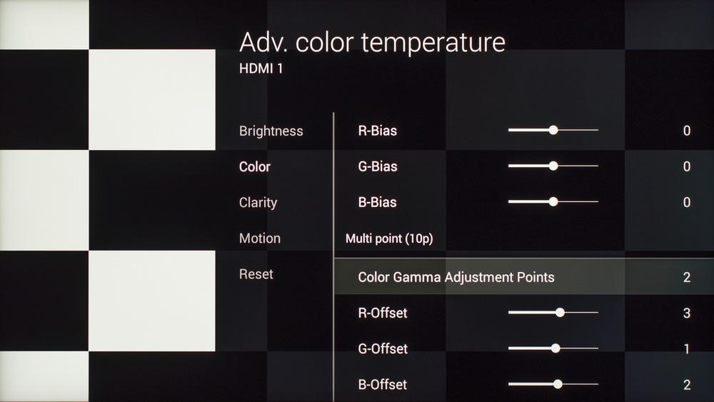 Sony X930C Calibration Settings 8