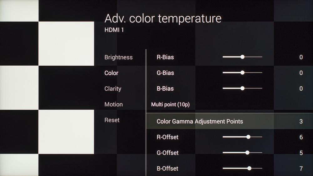 Sony X930C Calibration Settings 9