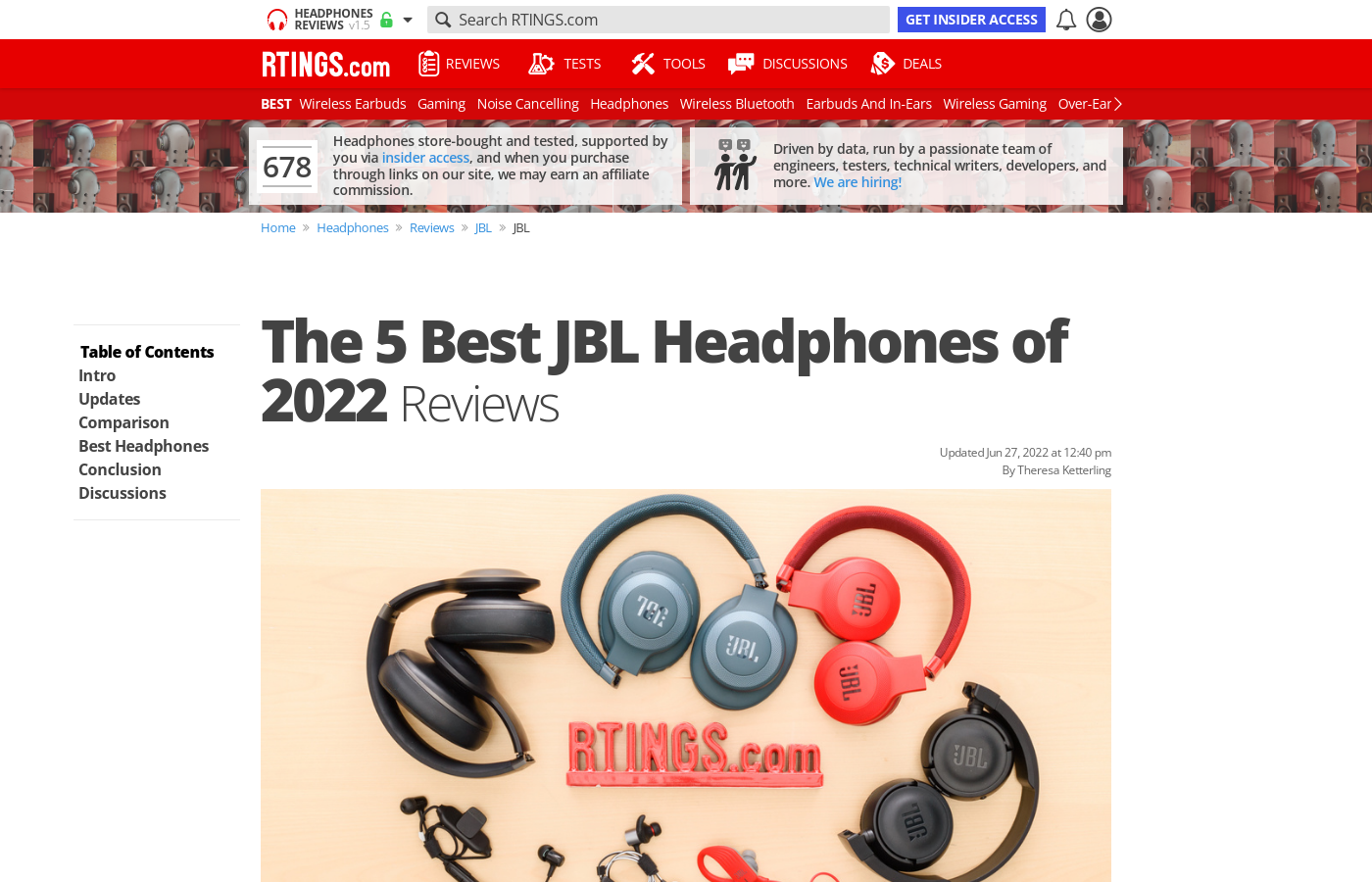 0e8c35bbb49 The Best JBL Headphones of 2019: Reviews - RTINGS.com