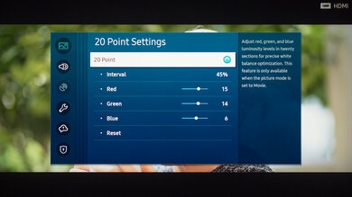 Samsung The Terrace Calibration Settings 26