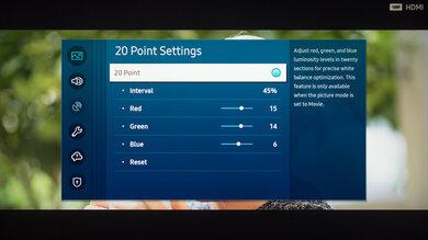 Samsung The Terrace Calibration Settings 26