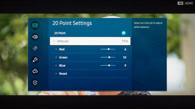 Samsung The Terrace Calibration Settings 32
