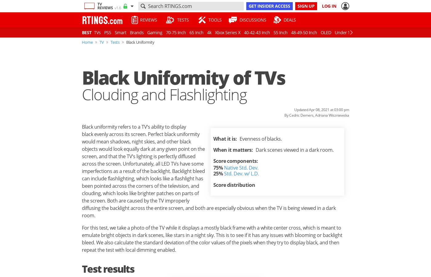 Black Uniformity of TVs: Clouding and Flashlighting - RTINGS com