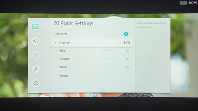 Samsung MU7600 Calibration Settings 22