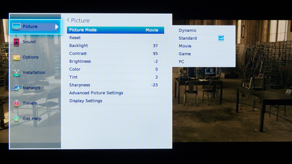 Toshiba L3400U LED TV Calibration Settings