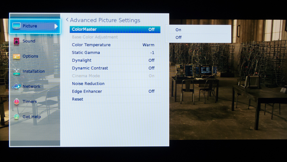 Toshiba L3400U Calibration Settings 2