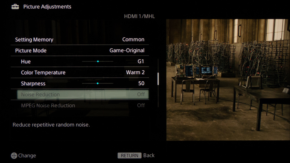 Sony W800B Calibration Settings 3