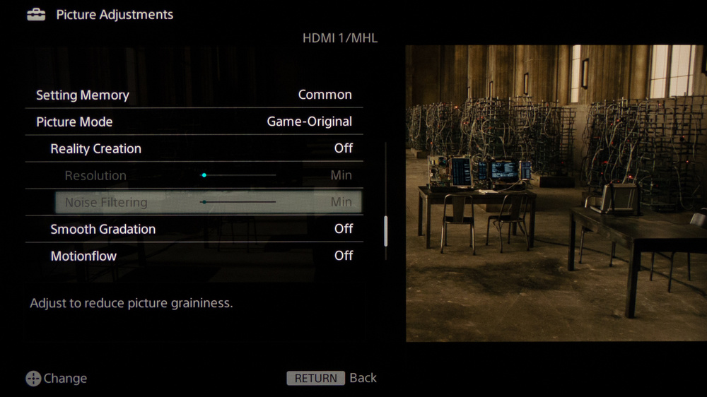 Sony W800B Calibration Settings 4