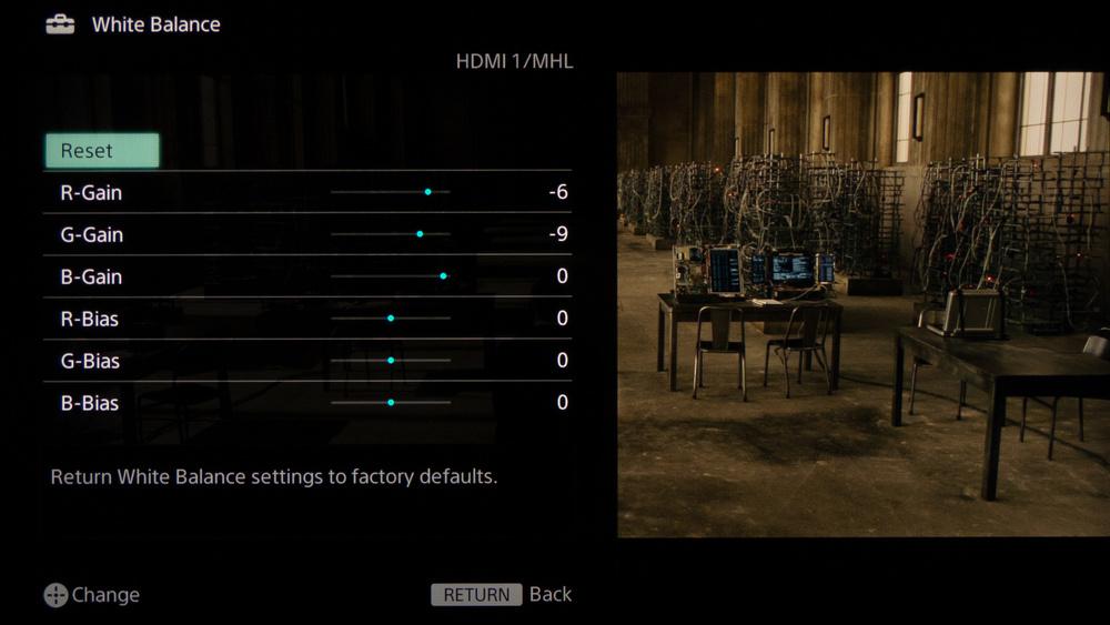 Sony W800B Calibration Settings 7