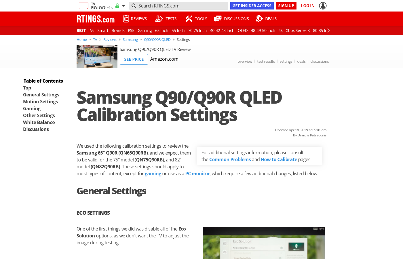 Samsung Q90/Q90R QLED Calibration Settings - RTINGS com