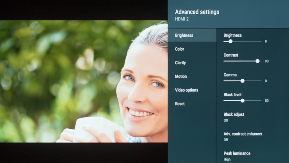 Sony A8F Calibration Settings 5