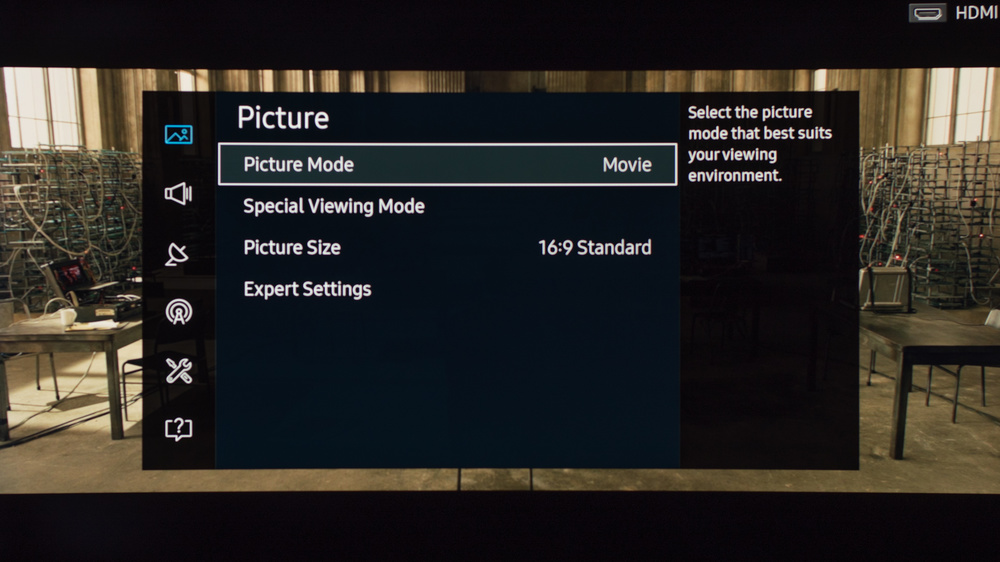 Samsung K6250 Calibration Settings 1