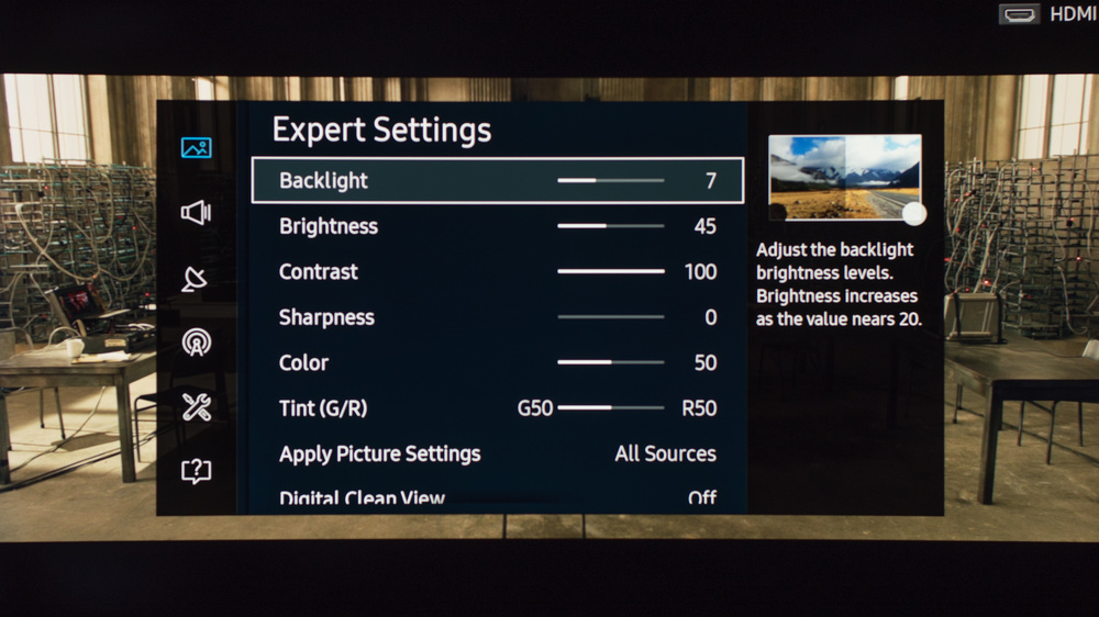 Samsung K6250 Calibration Settings 2