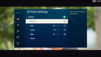 Samsung TU8000 Calibration Settings 29