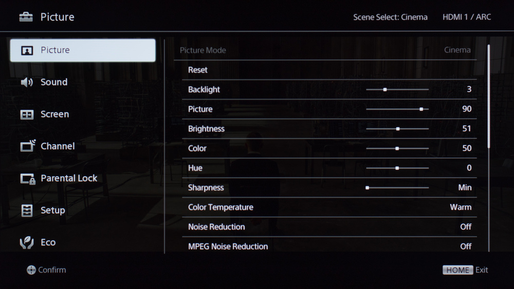 Sony R510C Calibration Settings 1