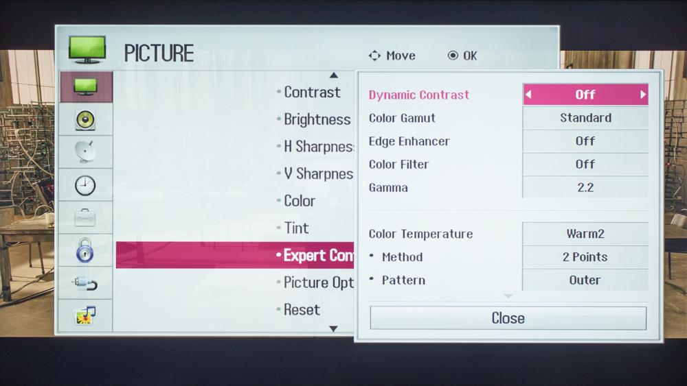 LG LF5500 Calibration Settings 3