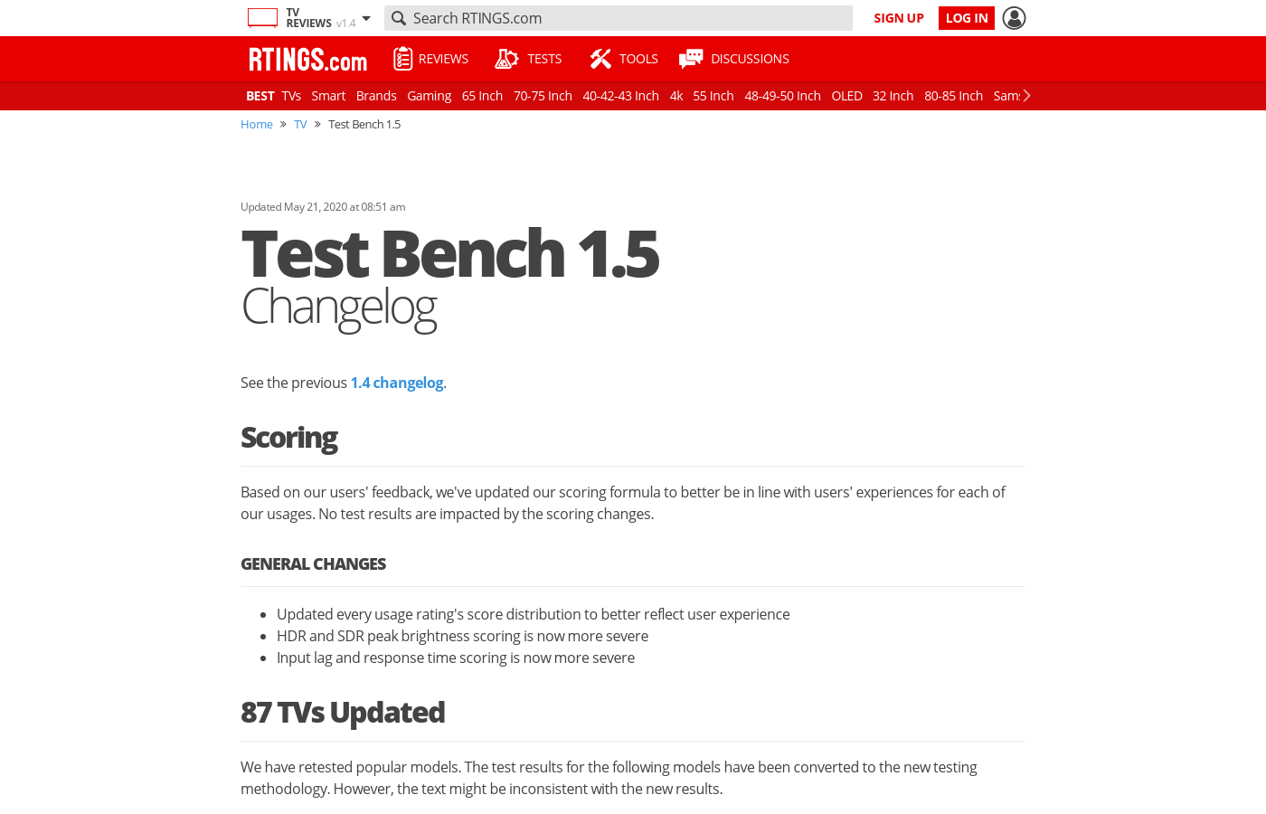 Test Bench 1.5: Changelog