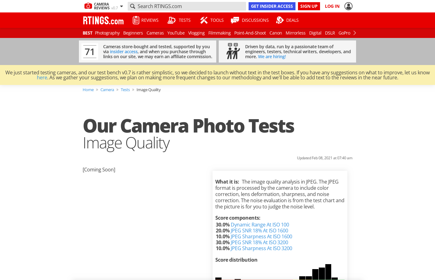 Our Camera Photo Tests: Image Quality