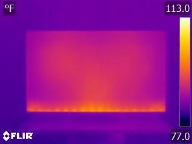 Sony A8G OLED Temperature picture