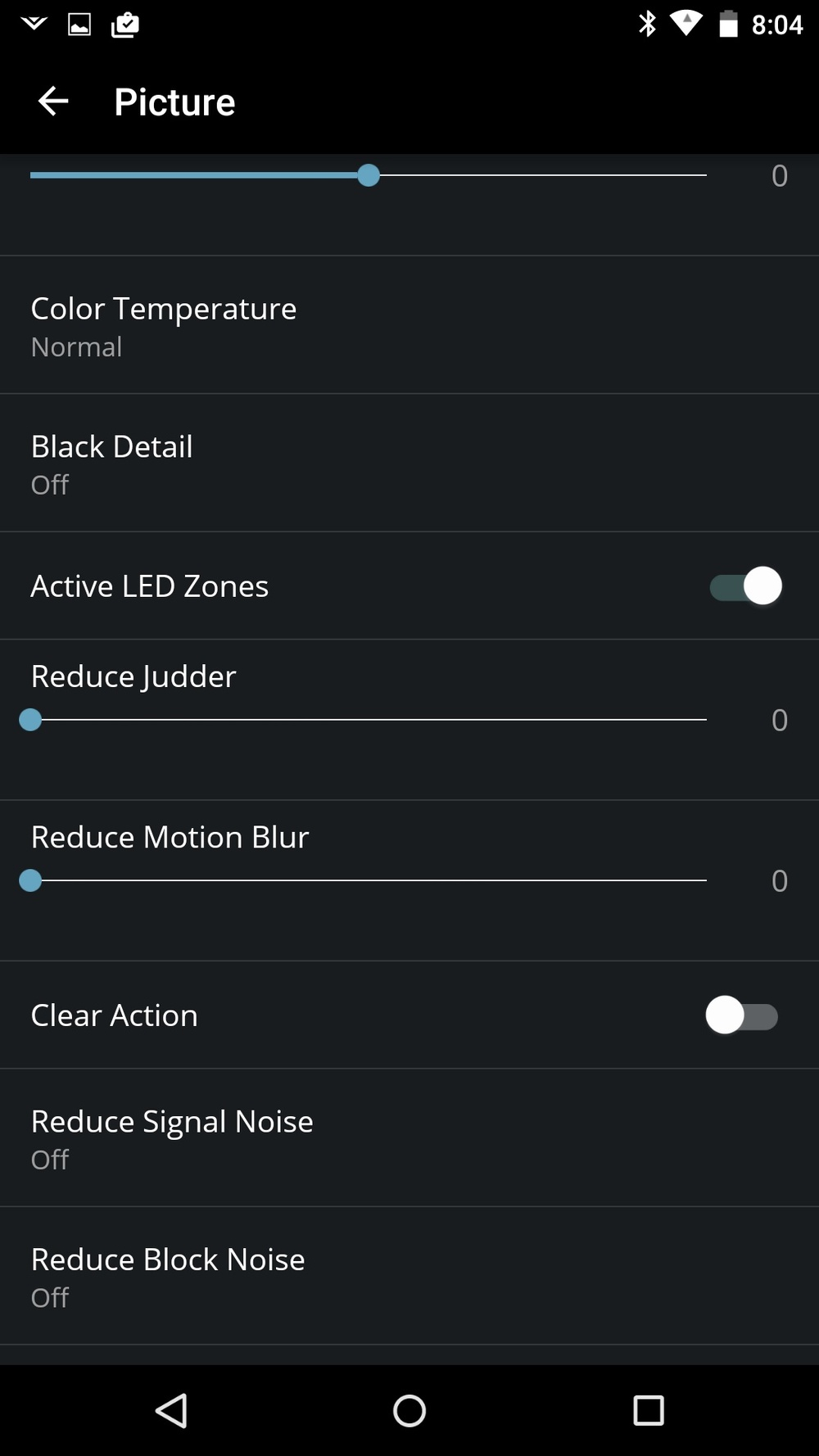 Vizio P Series 2016 Calibration Settings 2