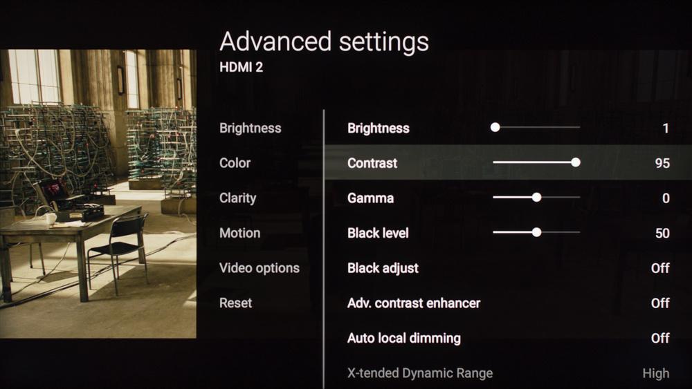 Sony X930E Calibration Settings 4