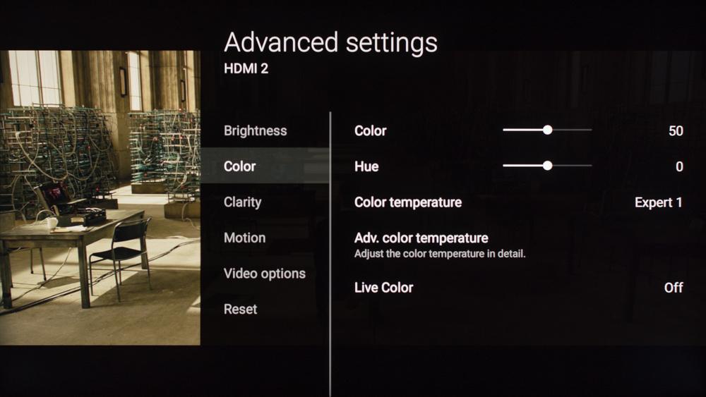Sony X930E Calibration Settings 5