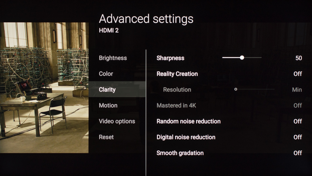 Sony X930E Calibration Settings 6