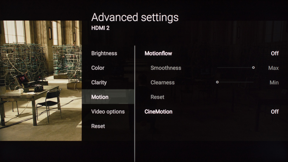 Sony X930E Calibration Settings 7