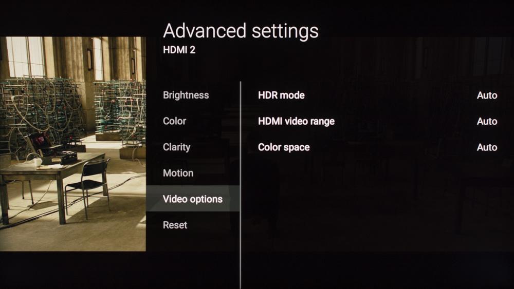 Sony X930E Calibration Settings 8