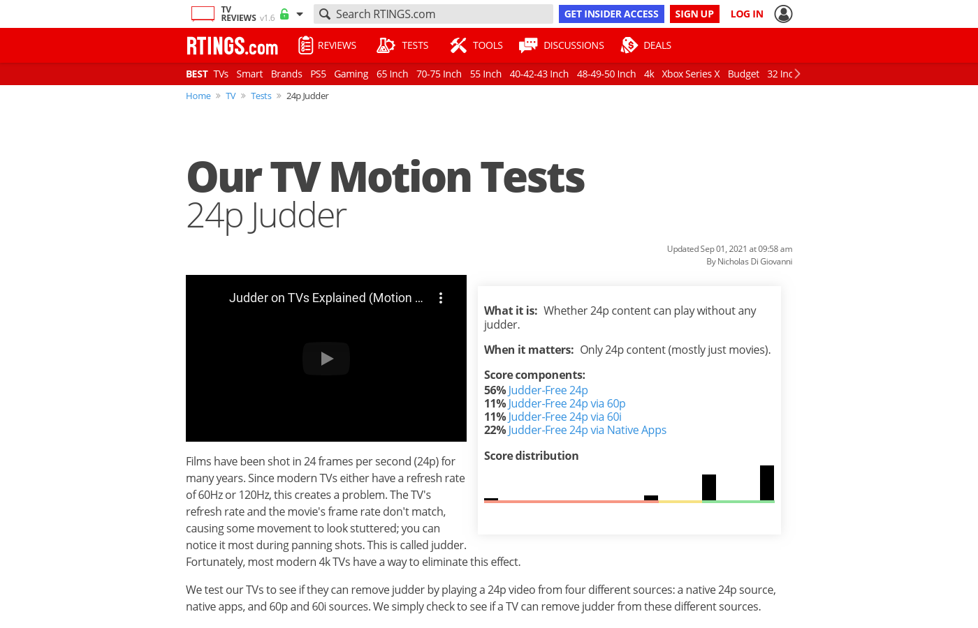 Judder-Free 24p On TVs - RTINGS com