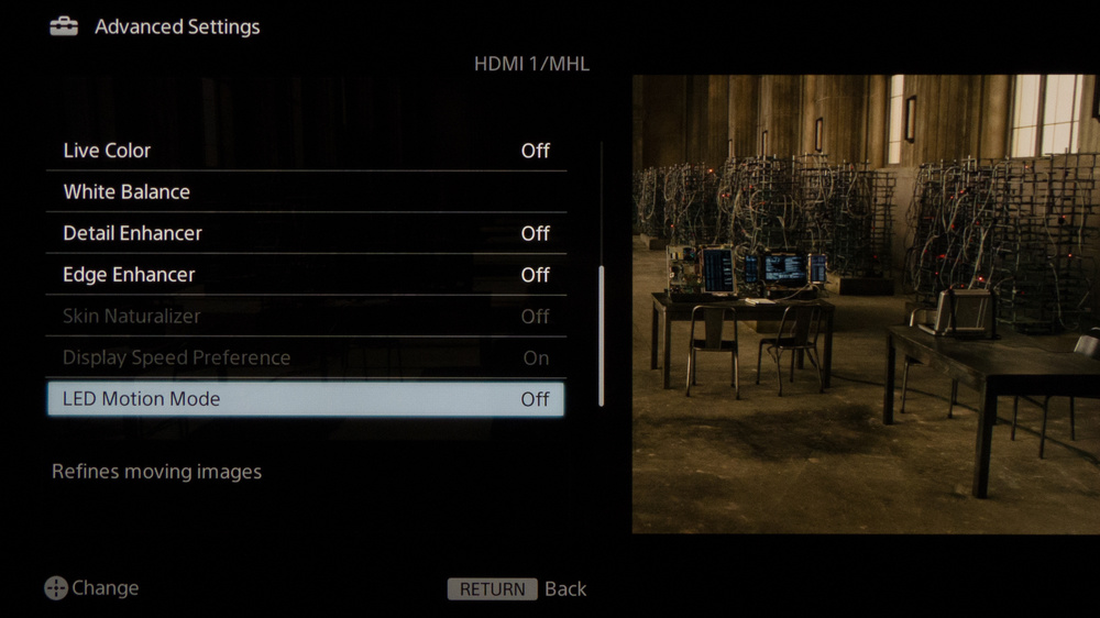 Sony W600B Calibration Settings 6