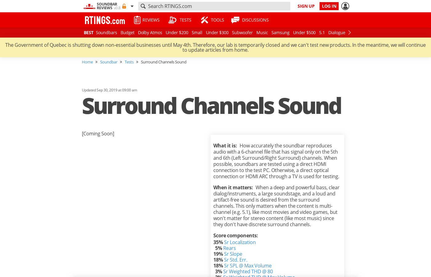 Surround Channels Sound