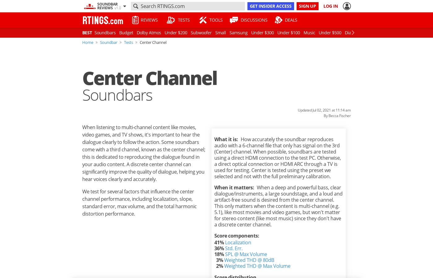 Center Channel: Soundbars