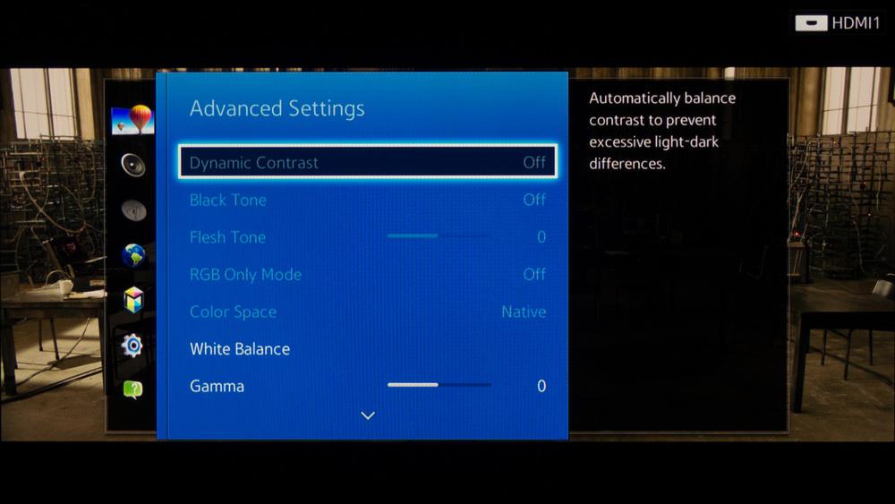 Samsung H6350 Calibration Settings 2