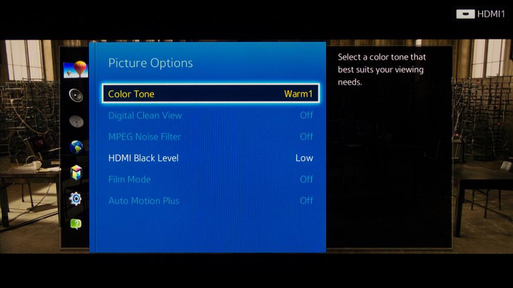 Samsung H6350 Calibration Settings 4