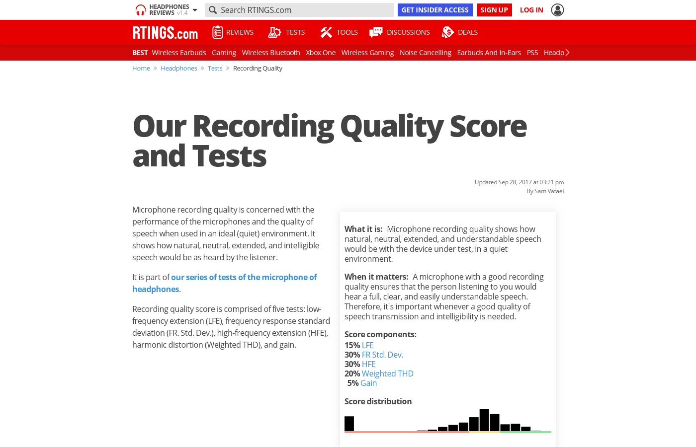 Our Recording Quality Score and Tests - RTINGS.com