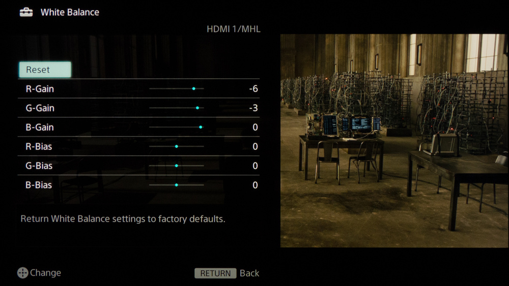 Sony W850B Calibration Settings 6