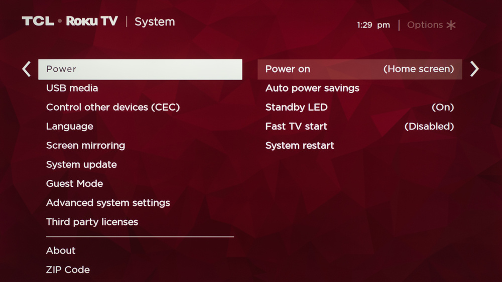 TCL 5 Series/S525 2019 Calibration Settings 81