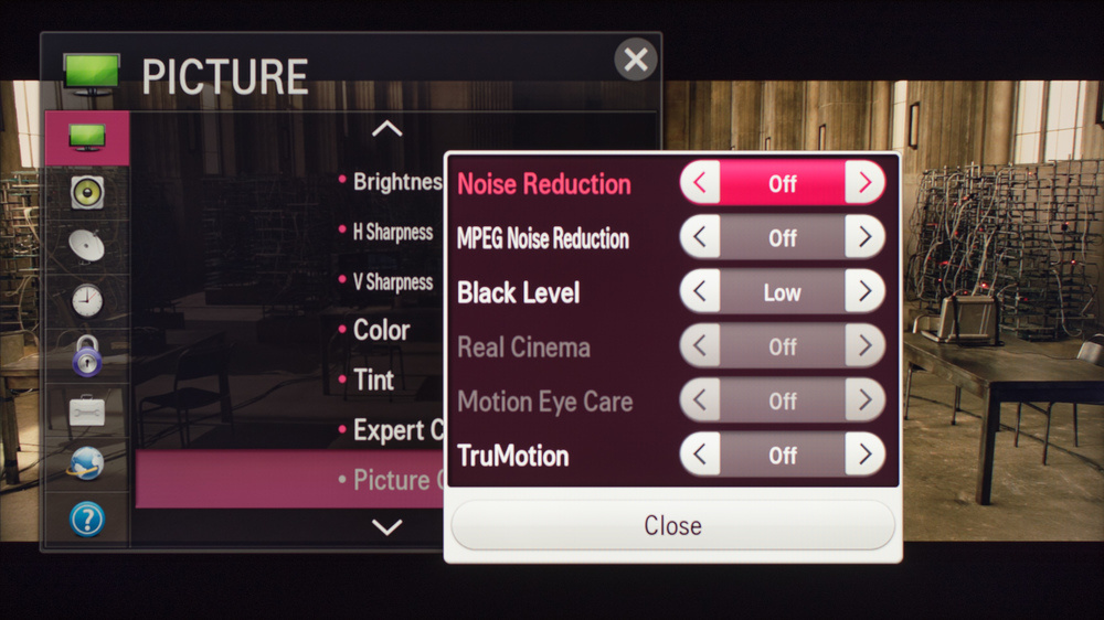 LG LF6100 Calibration Settings 2