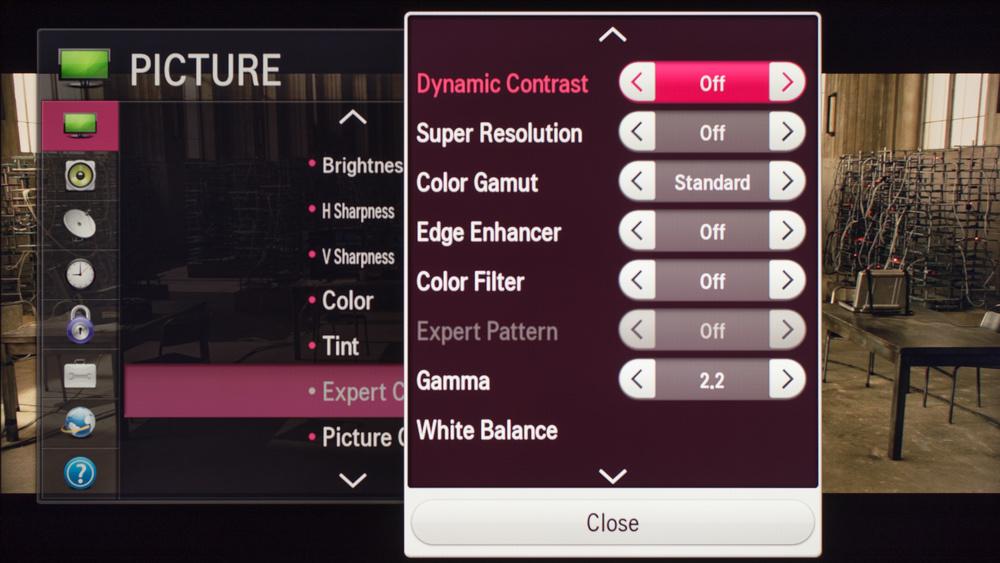 LG LF6100 Calibration Settings 3