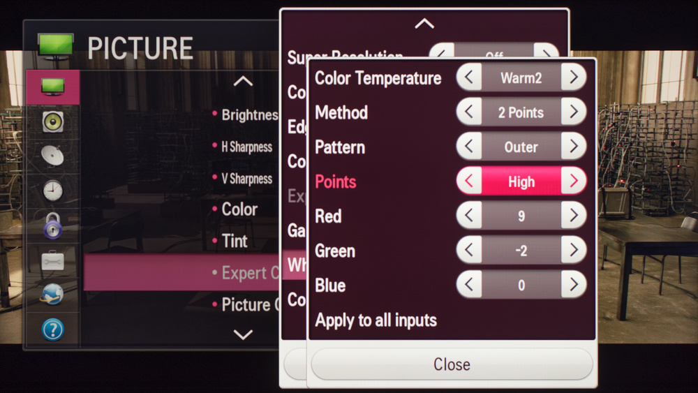 LG LF6100 Calibration Settings 4