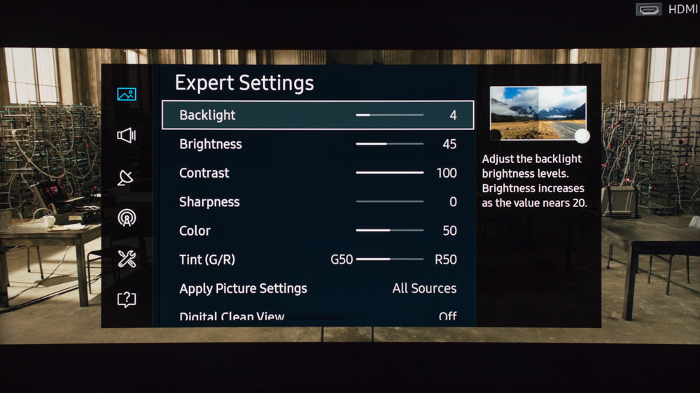 Samsung KU6500 Calibration Settings 3