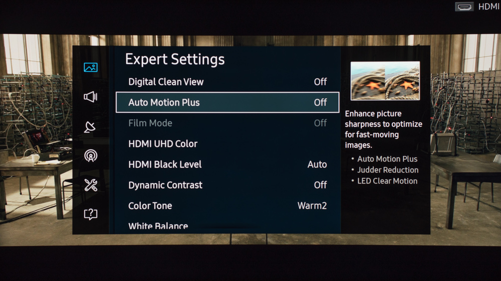 Samsung KU6500 Calibration Settings 4