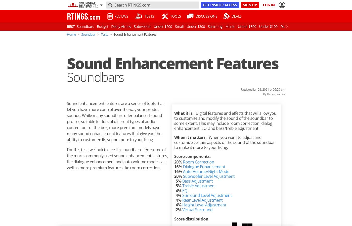 Test Article: Sound Enhancement Features