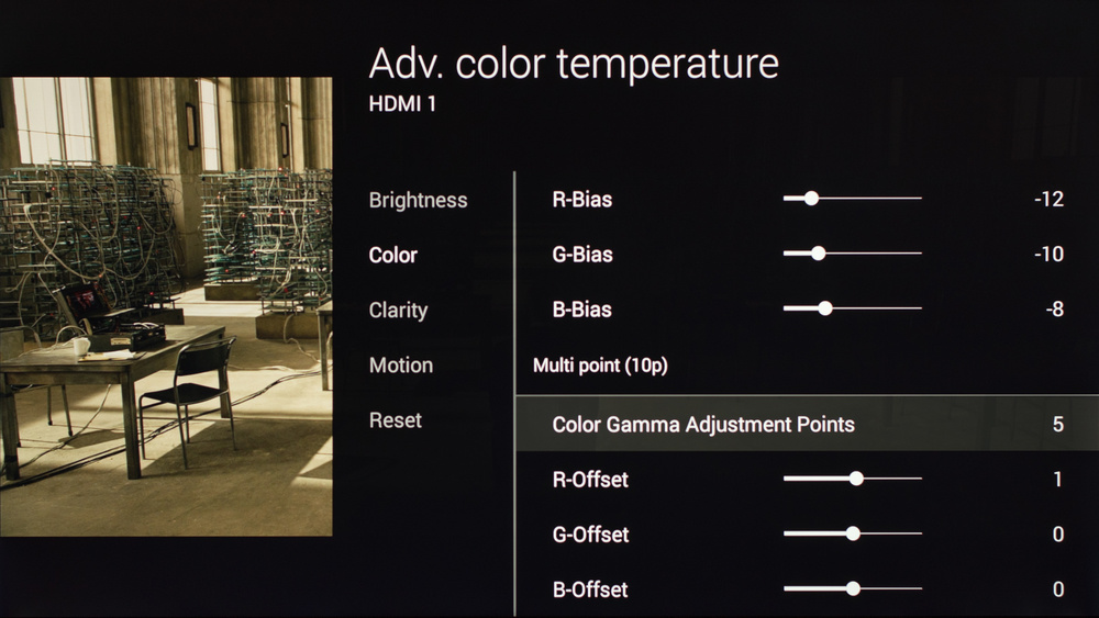 Sony X900C Calibration Settings 11