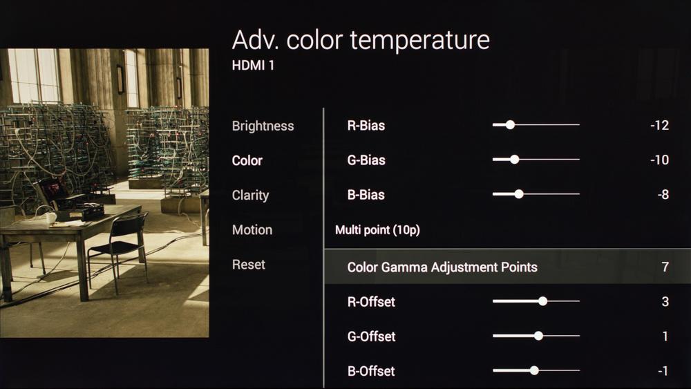 Sony X900C Calibration Settings 13