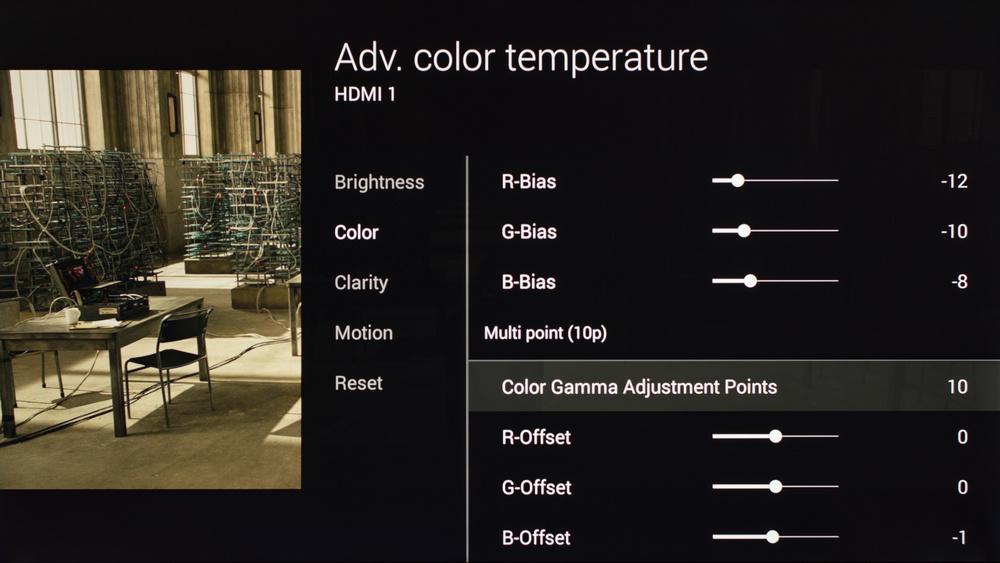 Sony X900C Calibration Settings 16